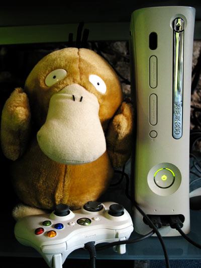 Psykokwak joue sur Xbox 360