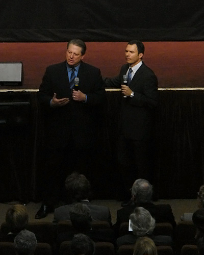 Al Gore et son interprète