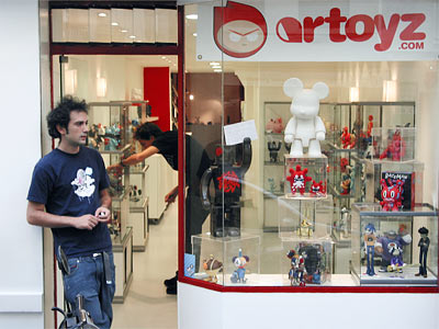 la boutique Artoyz vue de dehors