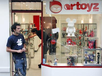 la boutique Artoyz vue de dehors
