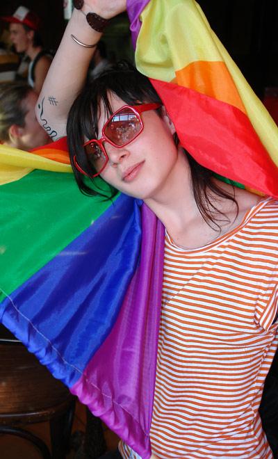 Audrey @ marche LGBT
