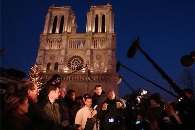 Don Quichotte @ parvis de Notre-Dame