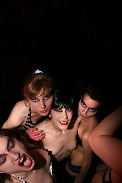 Anouk, Justine, Louise & Lou @ défilé Delphine von Kaatz