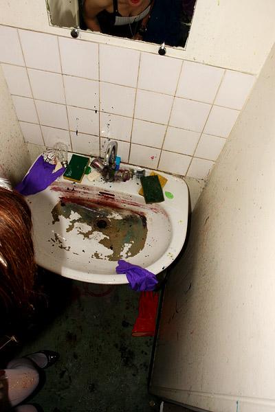 lavabo tout dégueu