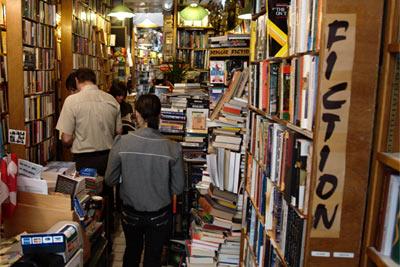 the Abbey Bookshop (vu du dedans)