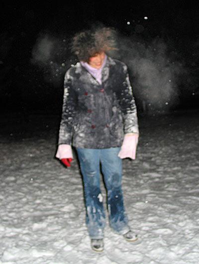 Lady Lust sous la neige