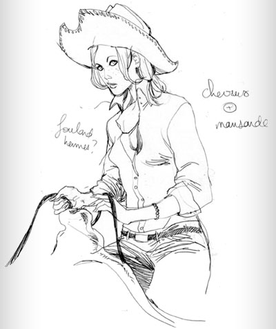 croquis par Marguerite Sauvage