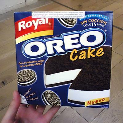Oreo Cake – photographié avec un mobile