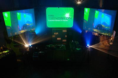 avant l'arrivée de la foule @ soirée de lancement Tenori-On