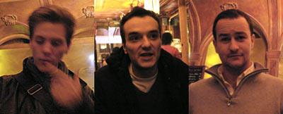 Julien Labigne, Sébastien Mossière et Jean-Luc Bertrand